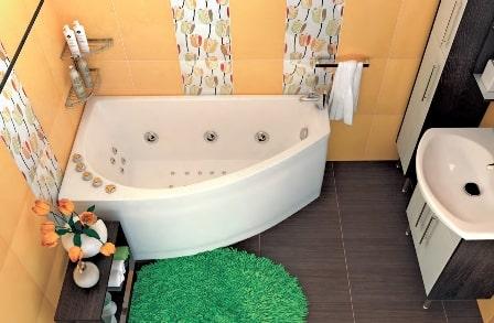 Подключение угловой ванны фото